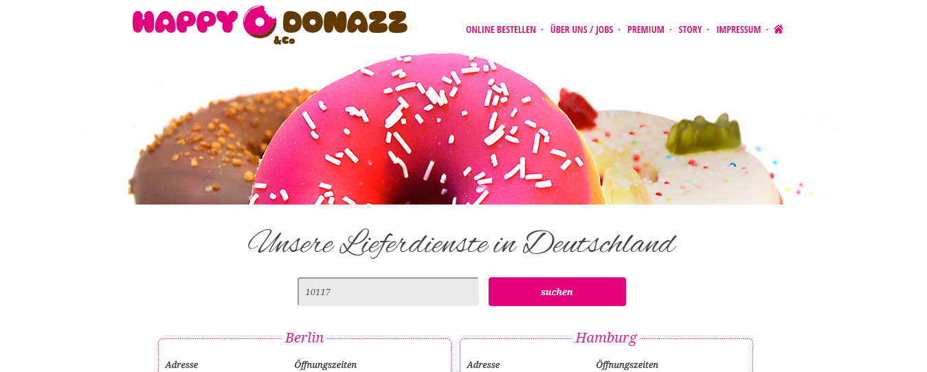 Happy Donuzz Webseite